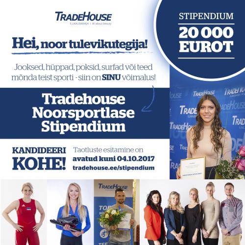Tradehouse Noorsportlase Stipendium_bänner